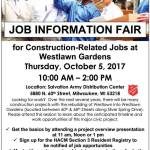 Job Information Fair for Construction-Related Jobs on October 5th