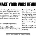 Make Your Voice Heard – Milwaukee County Budget Public Hearing on October 30th