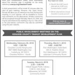 Public Involvement Meetings on Ozaukee County Transit Development Plan