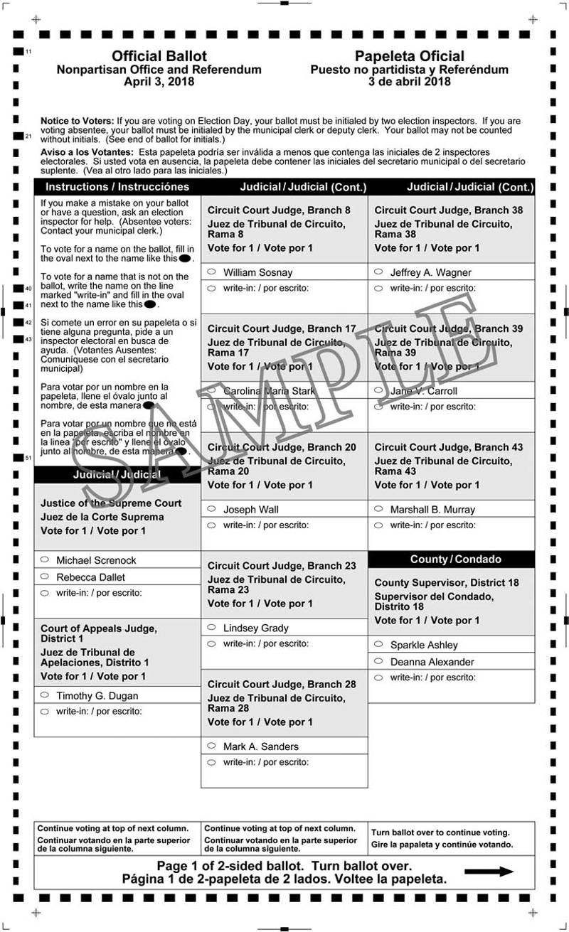 Notice of Spring Election, Referendum Election and Sample Ballots | Milwaukee Courier Weekly ...