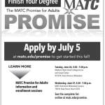 Free Tuition For Eligible Students to Finish Your Degree with MATC Promise for Adults