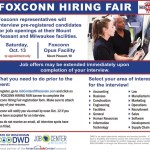 Foxconn Hiring Fair on Saturday October 13