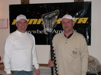 winner Tim Blazek with Bryan Blanke
