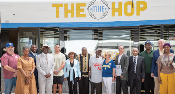 Milwaukee Brewers and the Negro Leagues Baseball Museum unveil new Hop street car