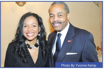 Economic activist Maggie Anderson with Milwaukee Urban League president and CEO Ralph Hollmon.