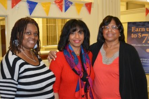 Pictured with Ms. Dickens is Jacqueline Ward of Fondy North FDC and Delores Sims of Legacy Bancard Inc.