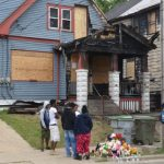 Burned out house on 12th Street where 14 year old was Killed