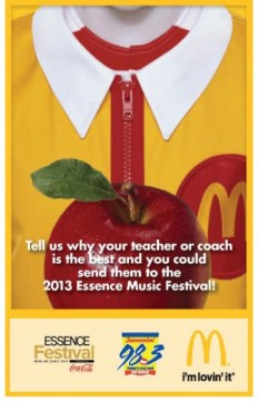 Flyer promoting the 2013 Teacher Appreciation Award.