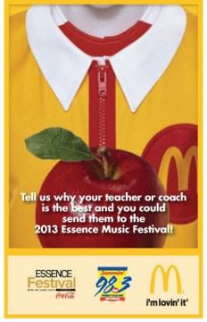Flyer promoting the 2013 Teacher Appreciation Award.