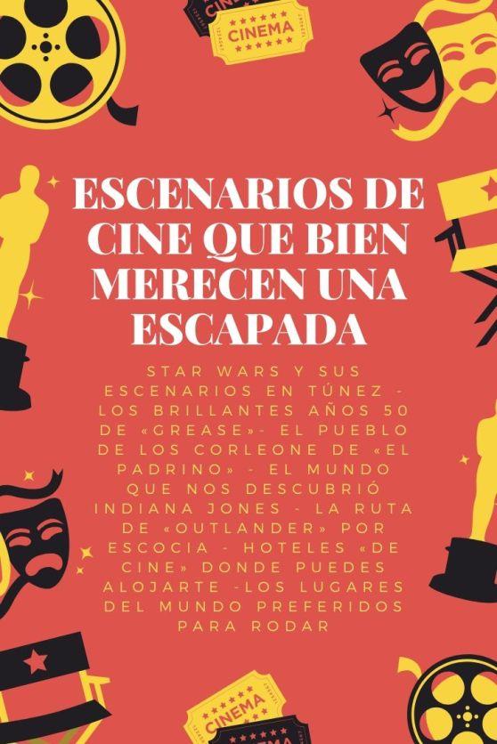 Imagen de Pinterest Noche de Premios de Cine Bermellón, Amarillo y Negro