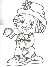 Free coloring pages of payaso para colorear