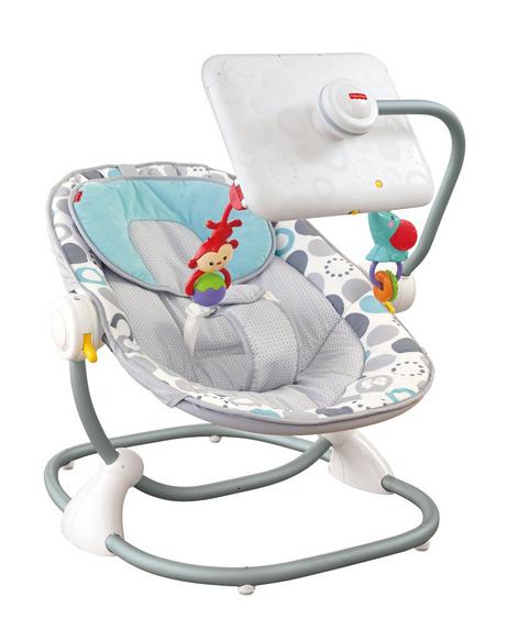 Una silla para beb con soporte para tablet  MI MAM