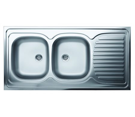 Dvodelna nasadna sudopera, odlicnog kvaliteta, izradena od rosfraja. Prakticna sudopera, za lako održavanje i korišcenje.