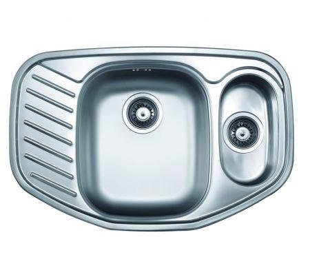 Dvodelna ugaona ugradna sudopera, odlicnog kvaliteta, izradena od rosfraja. Prakticna sudopera, za lako održavanje i korišcenje.