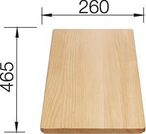 Daska za rezanje BUKVA 465×260 (Favos, Favum, Flex, Top)
