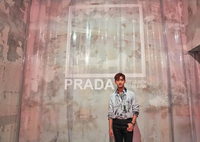 ชางมิน ร่วมงานแฟชั่นโชว์ของแบรนด์Prada ที่Milan Fashion Week