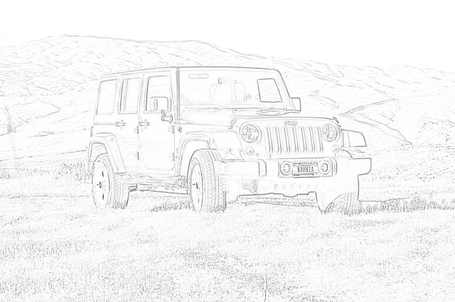 Jeep Wrangler coloring page - Mimi Panda