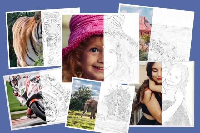 Convert Photo to Coloring Page Online - Mimi Panda