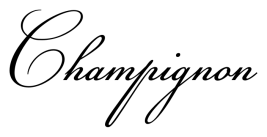 Wedding fonts Champignon