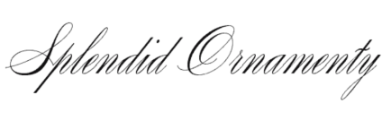 Wedding fonts Splendid Ornamenty
