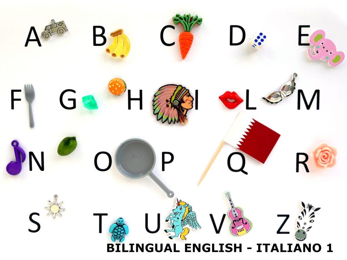 bilingual language objects english italiano