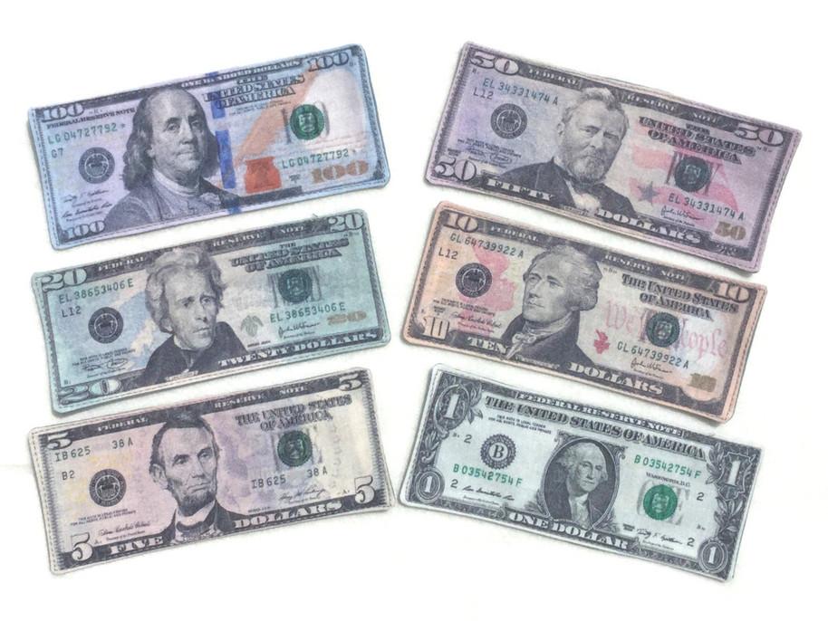 fabric play money