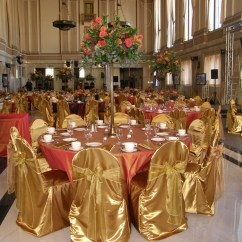 Gold Universal Chair Covers High End Chairs Victorian With Vintage Organza Sashes