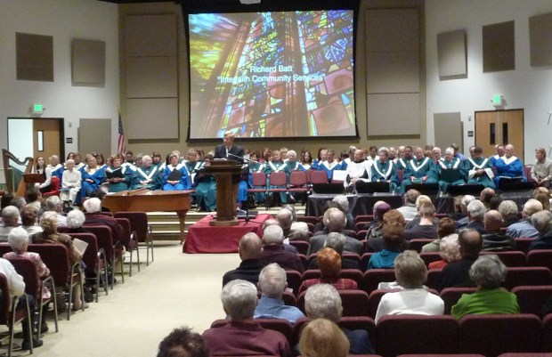 photo of choir at annual Interfaith Service