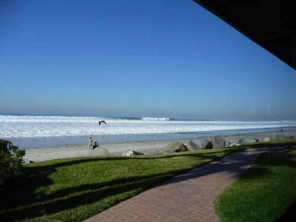 High surf and Jake's Del Mar