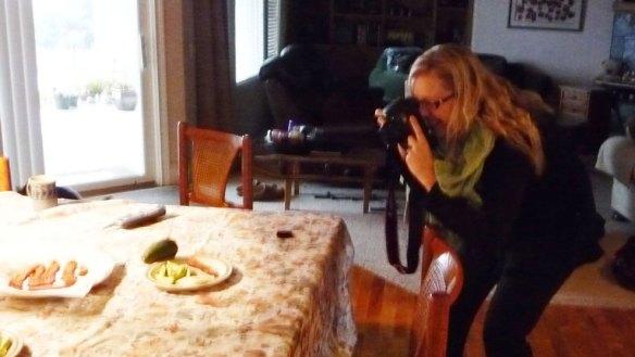 Rachael shoots breakfast
