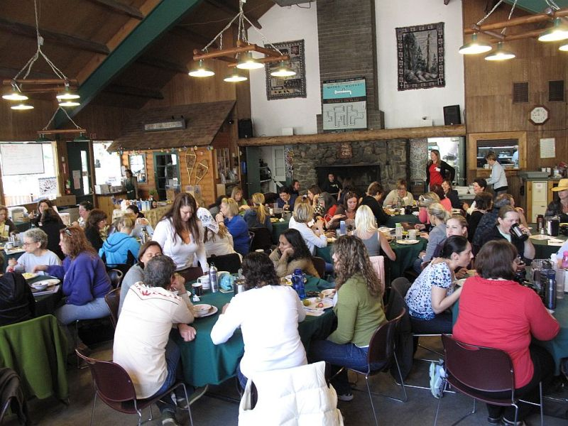 Camp Blogaway breakfast