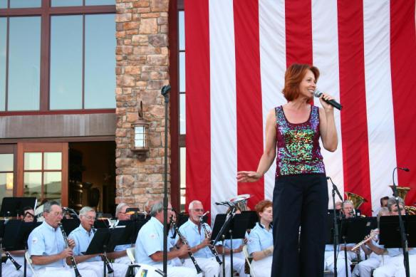 Lillian Palmer sings with CCCBand