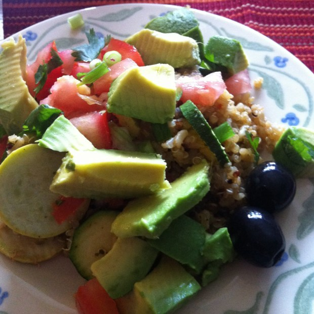 quinoa salad with avocados
