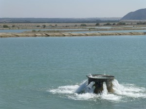 pumping water into the lake