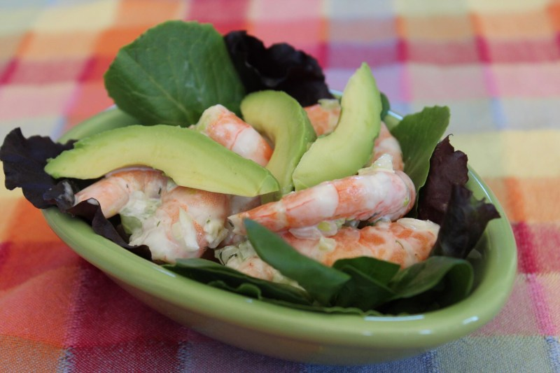 shrimp salad avocado