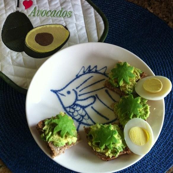 avocado toast squares