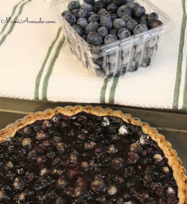 blueberry tart add fresh berries