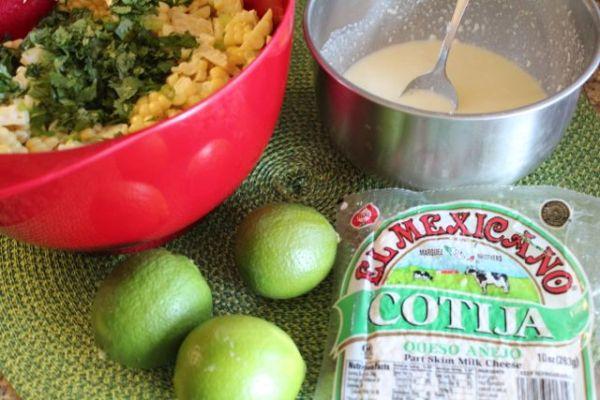 Mexican Corn Saladi ngredients