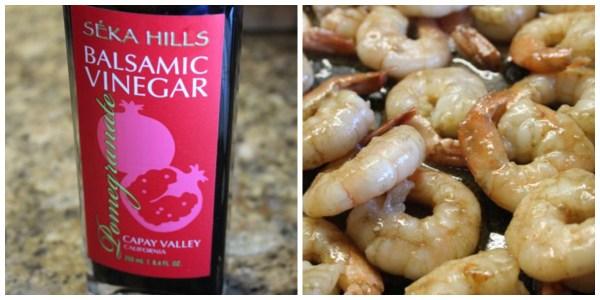 Pomegranate Balsamic Shrimp