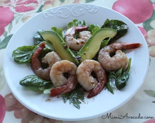 Pomegranate Shrimp Salad with California Avocado