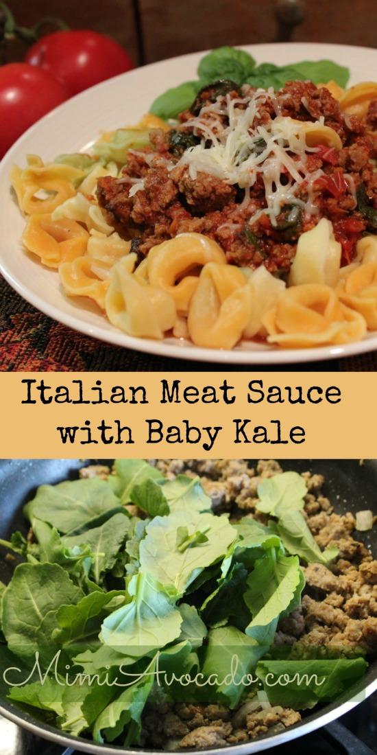 Italian Meat Sauce with Kale