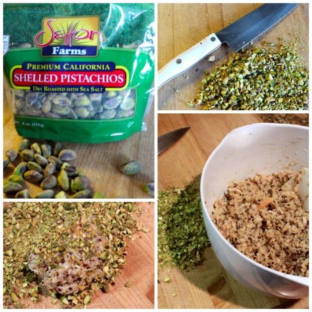 pistachios-crabcakes-collage