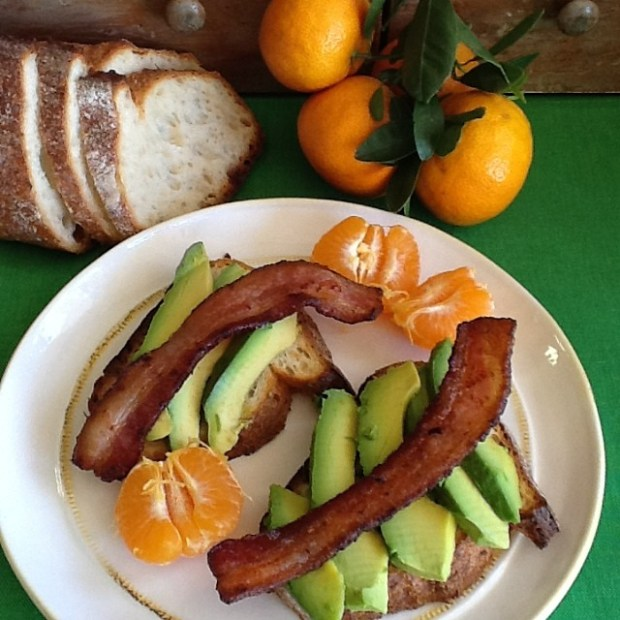avocado-on-sourdough-with-bacon