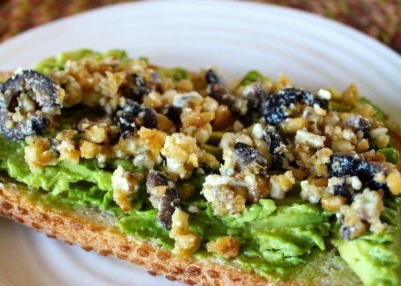 avocado-toast-with-walnut-gorgonzola-topping