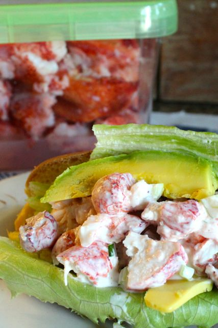 lobster meat and lobster roll