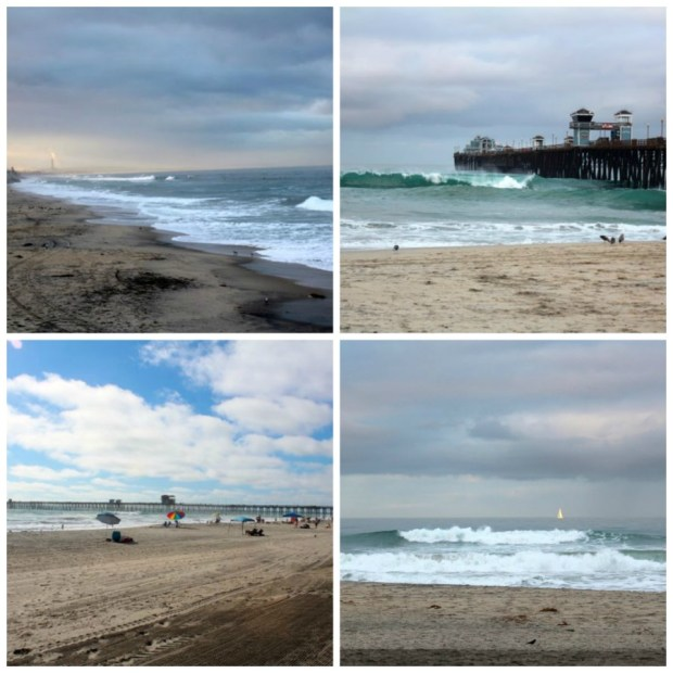 beach scenes collage