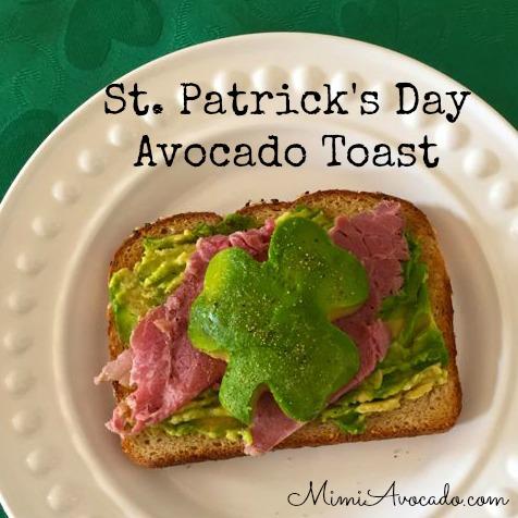 St. Patrick's Avocado toast