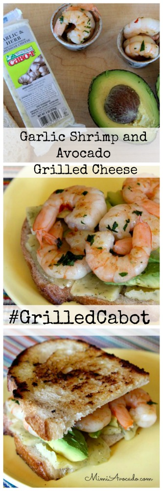 Garlic Shrimp - Avocado Grilled cheese