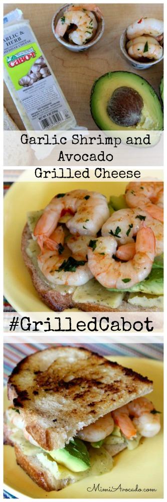 Garlic Shrimp - Avocado Grilled cheese