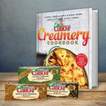 Cabot cookbook and cheese